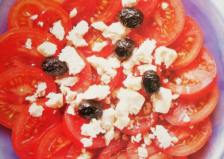 Recipe of Speedy Tomato and feta cheese salad