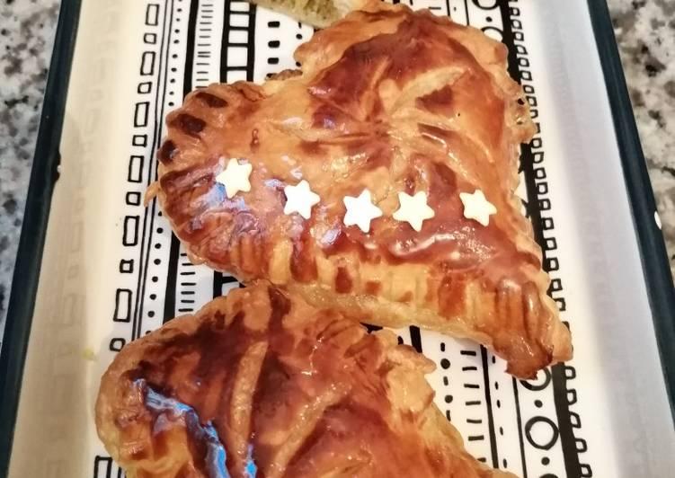 recette Cœur de galette des rois délicieux