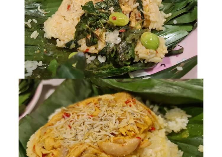Nasi bakar ayam teri wuenakk (pete kemangi optional) 😀😀
