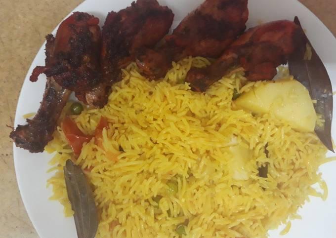 Quick Tandoori chicken fry