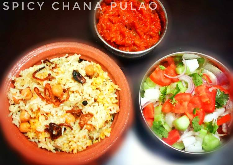 25 Minute Steps to Make Blends Spicy Chana Pulao