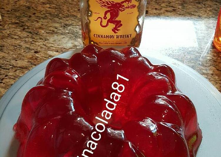 Steps to Make Perfect Fireball jello shot cake