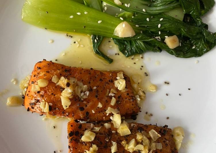 Salmon steak (DIET)
