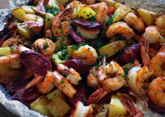 Easy Foil Baked Shrimp