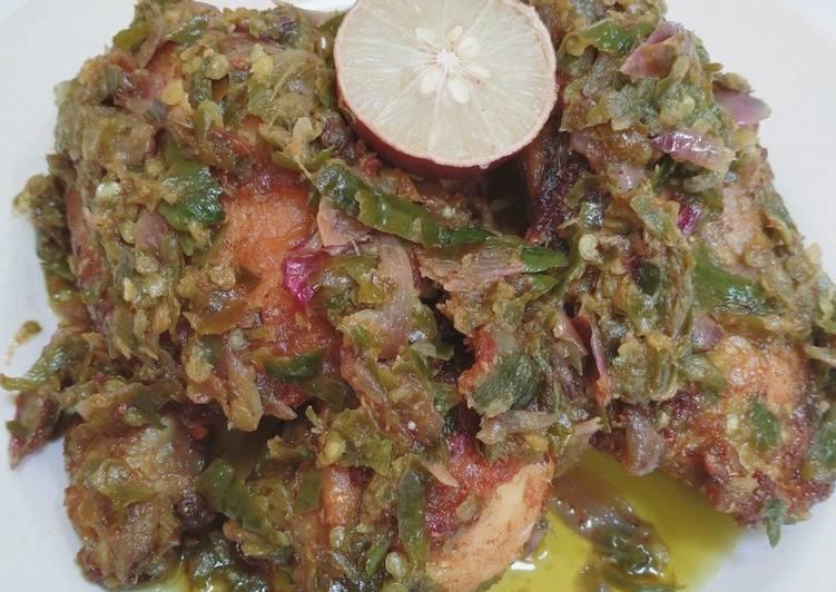 Resep Ayam Goreng Lado Mudo/Ijo, Bikin Ngiler