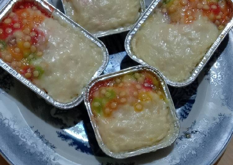 🌈Tawar Kukus Cheese Rainbow🌈