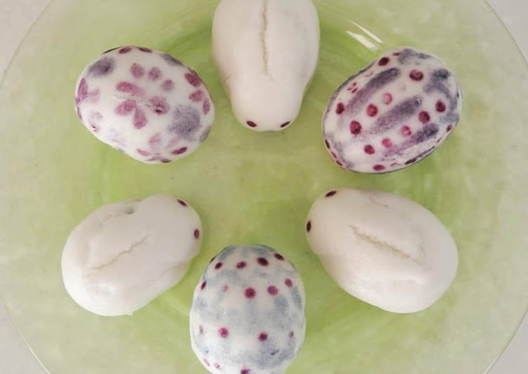 Les lapins et les œufs de Pâques- Jouyo Manju (Wagashi)