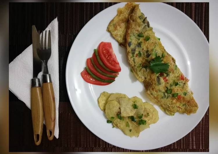 7 Way to Create Healthy of Breakfast Omelette with a side of spiced baked potatoes