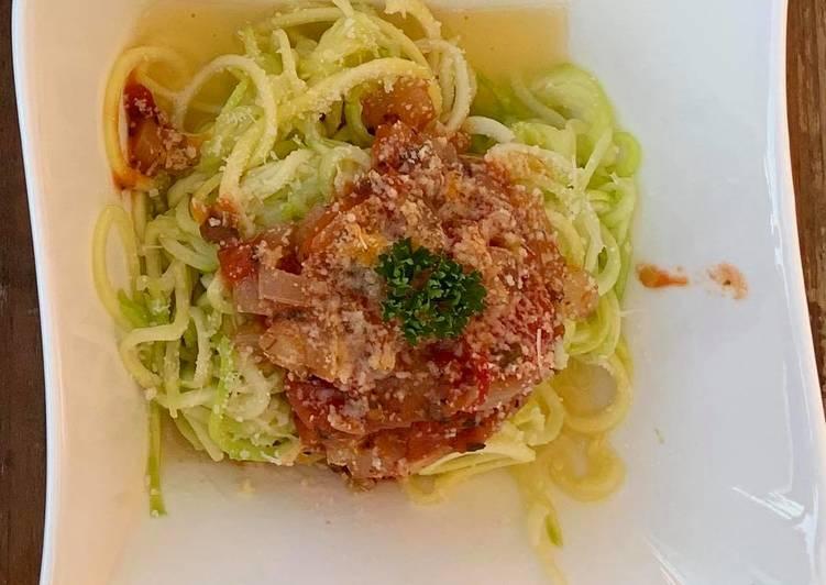 Spaguettis de courgettes