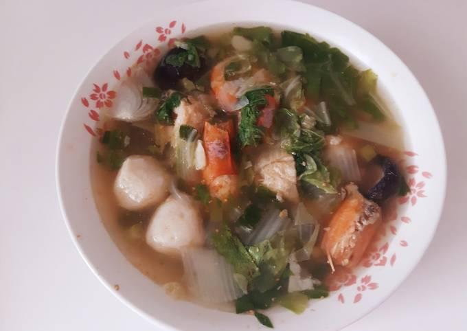 Sup sayur udang bakso ikan (#218)