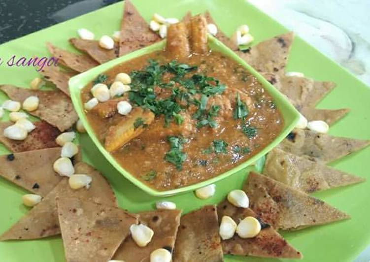 15 Minute Step-by-Step Guide to Make Favorite Baby corn salsa masala with Roti Nachos
