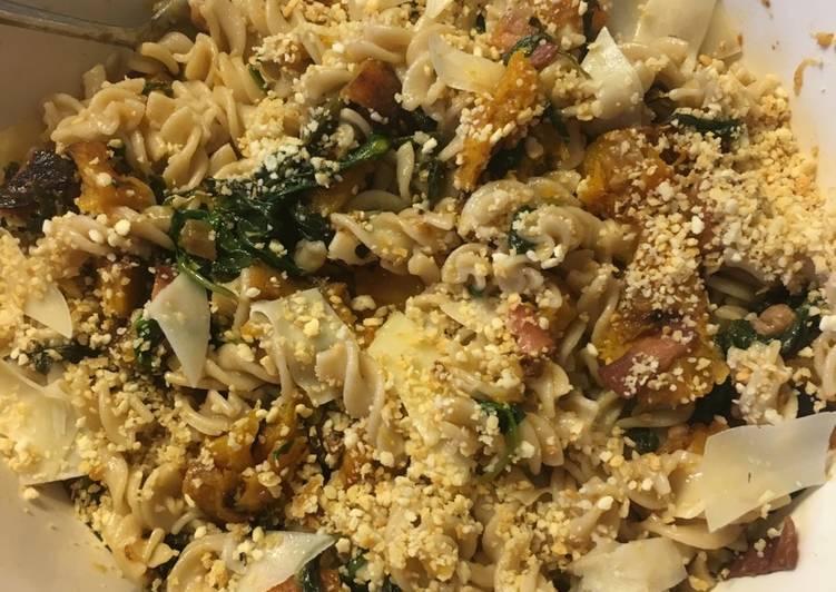 Butternut Squash and spinach pasta (Gluten Free)