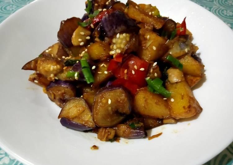 Chinese Style Eggplant Dish/Tumis Terong Kentang