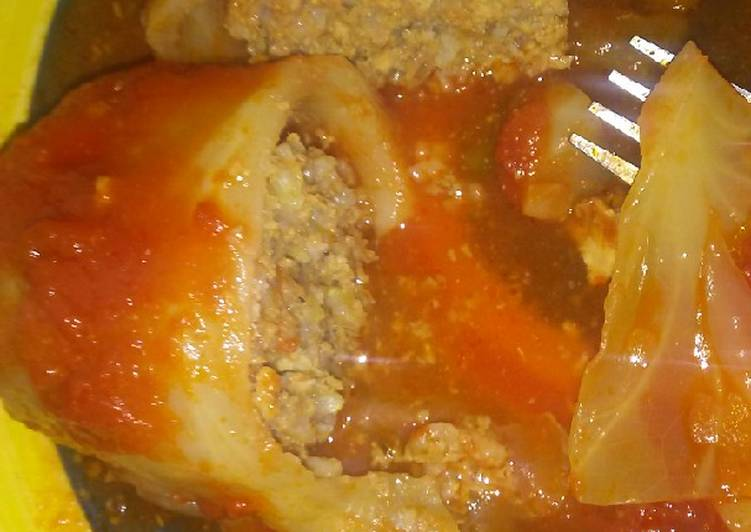 Mom's Cabbage Rolls (My twist on them)