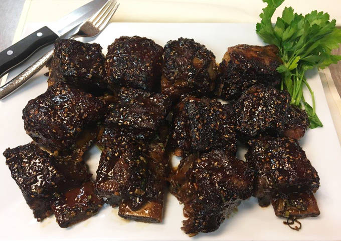 Grilled Wagyu Short Ribs with Korean BBQ Sauce