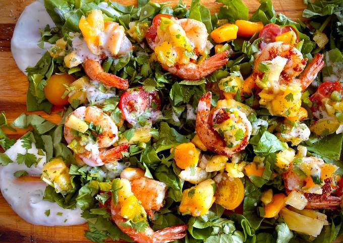 Summer Heat Taco shrimp salad board