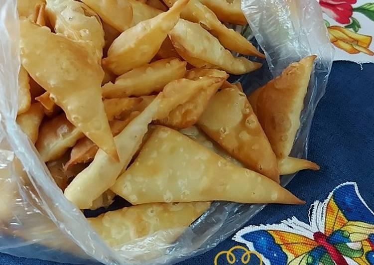 Krupuk Pangsit (sambosa) super renyah tahan lama