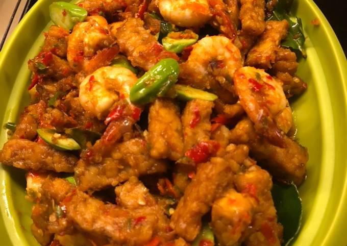 sambal goreng tempe udang pete - resepenakbgt.com