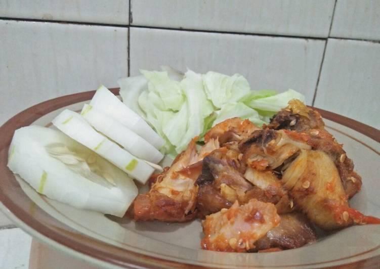Ayam penyet simple