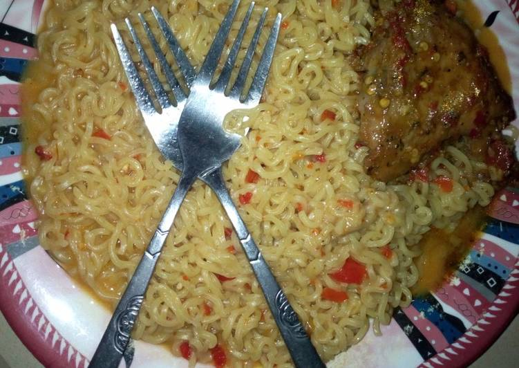 Indomie in chicken pepper soup