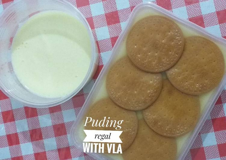 Puding regal with vla homemade