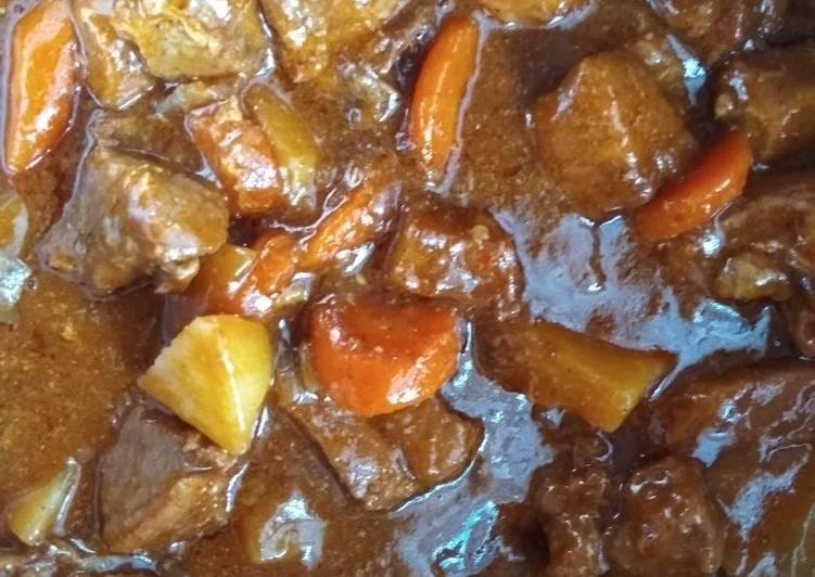 Simple Way to Prepare Perfect Vegetables beef stew