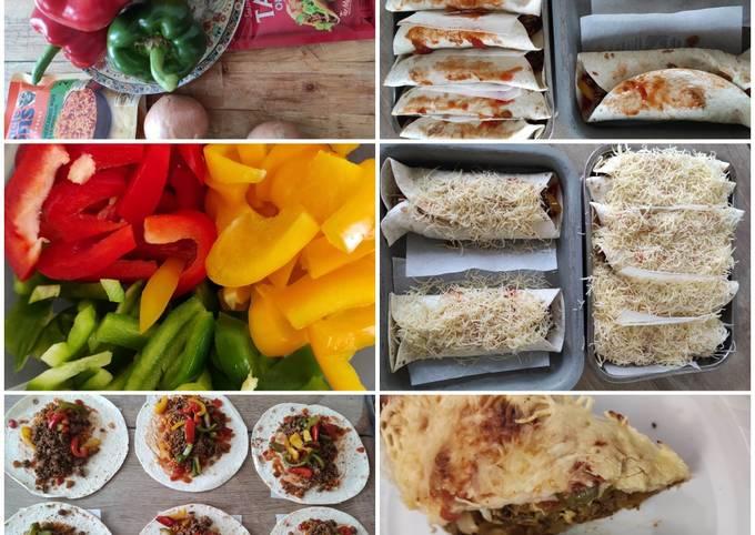 Mexican Beef Burritos EASY