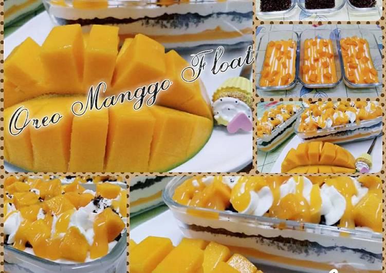 Oreo Manggo Float - resepipouler.com