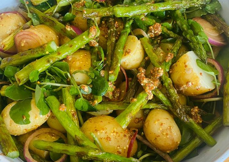 Recipe of Top-Rated Potato salad with asparagus