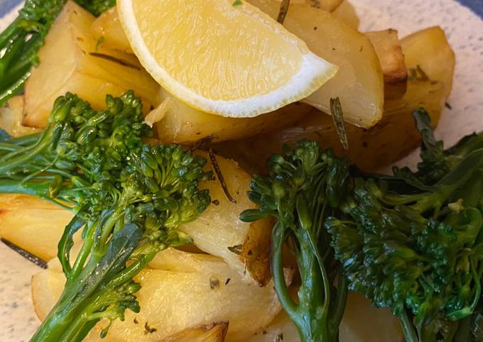 Greek Lemon infused Potatoes