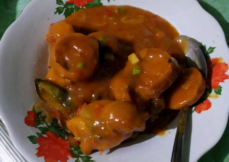 Ayam + rolade saus padang