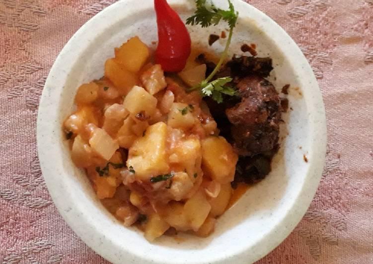Step-by-Step Guide to Make Homemade Chayote - Irish Potatoes served with Mbuzi Ulaya#authormarathon#