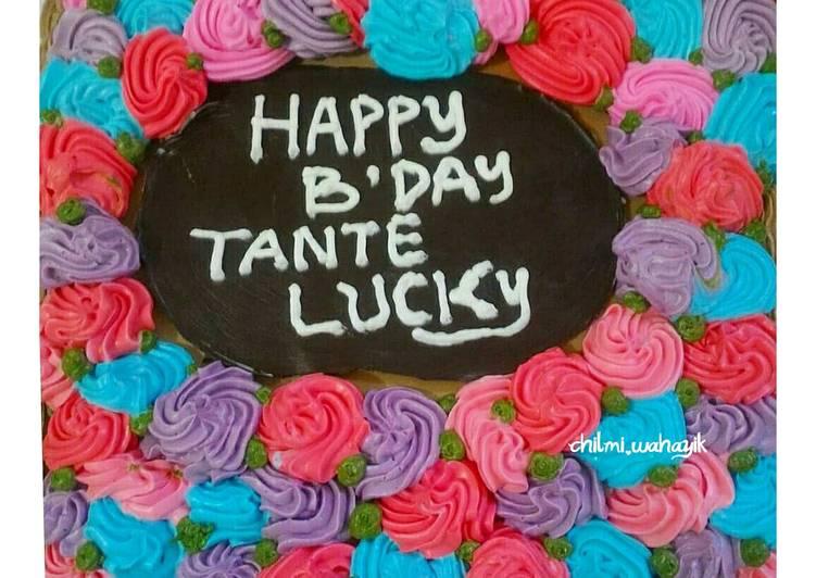 Resep Tart cake / kue ulang tahun Terbaik