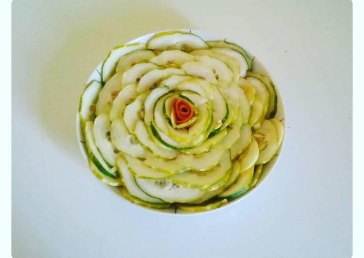 Rose de concombre avec un simple ingrédient 😅🥒
