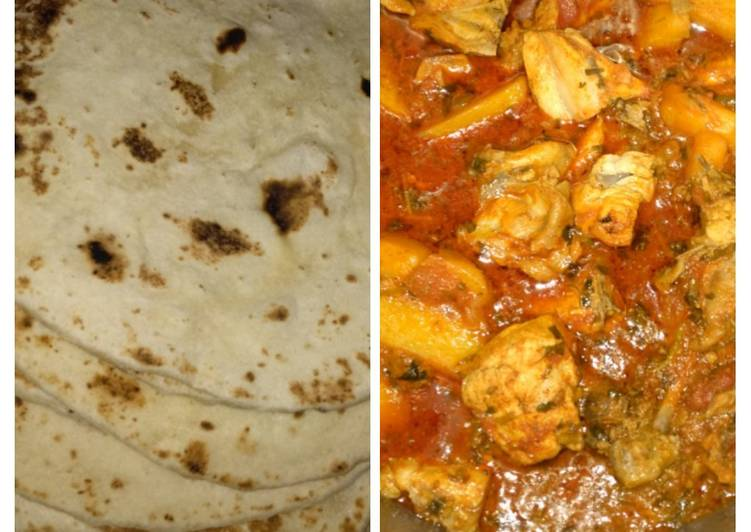 Recipe of Homemade Naan with chicken curry
