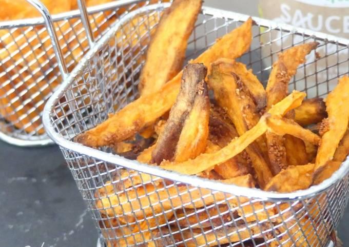 Frites de patates douce au four