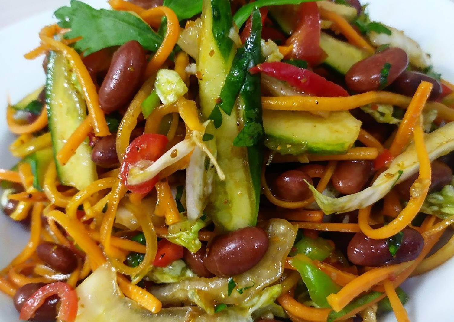 салат с фасолью фото пошагово предки использовали эту