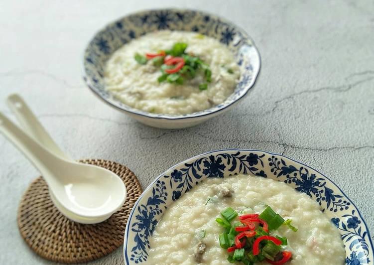 Bubur Nasi Daging Bersantan - resepipouler.com