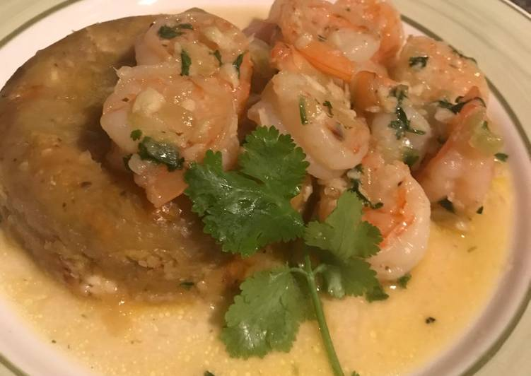 Shrimp mofongo