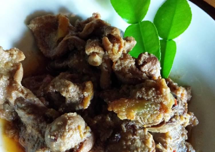 Gongso Ati-Ampela Ayam Kampung