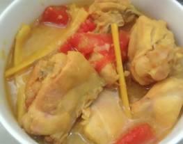 Ayam masak arsik/ daging ayam diarsik (masakan tradisional)