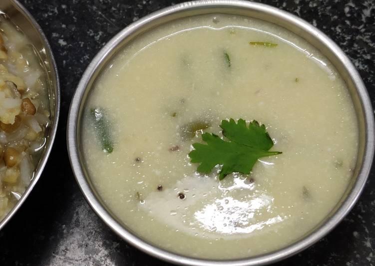 5 Minute Steps to Make Homemade Gujarati Kadhi !!