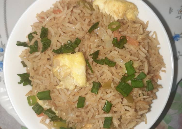 25 Minute Simple Way to Prepare Quick Vegetable smoky Fried Rice😊