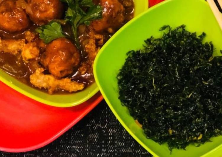 Steps to Prepare Super Quick Homemade Whosayna's Crispy Chicken and Veggie Manchurian Twist