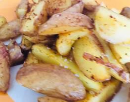 Patatas gajo al horno con chile y ajo