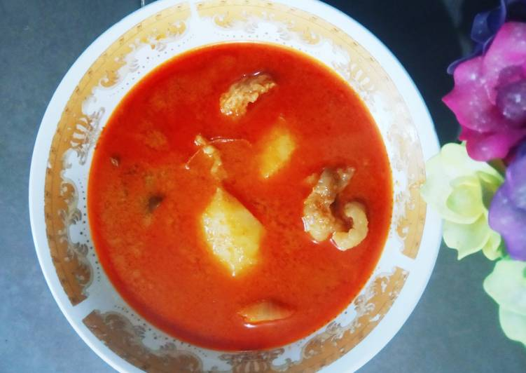 Gulai daging Cincang Padang
