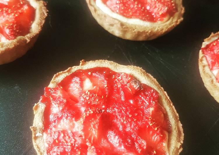 Tartelette fraises à la crème d'amande