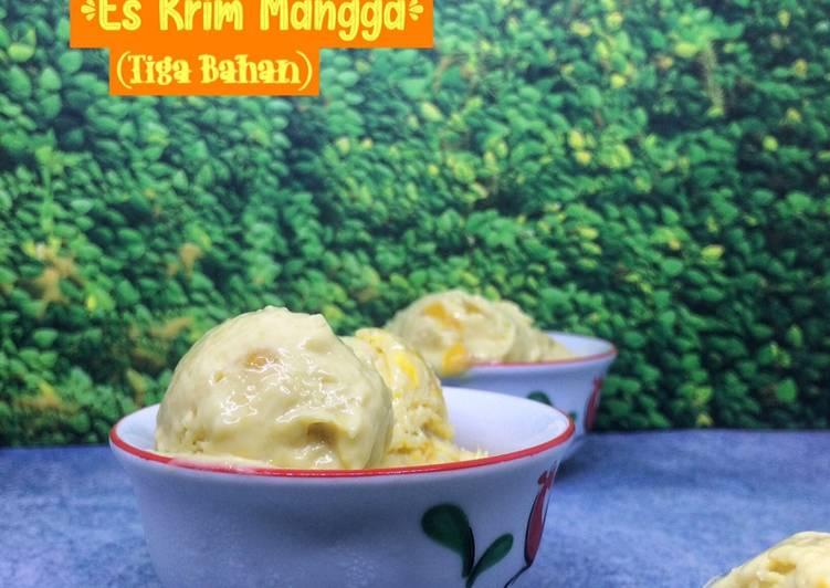 Es Krim Mangga (Tiga Bahan)