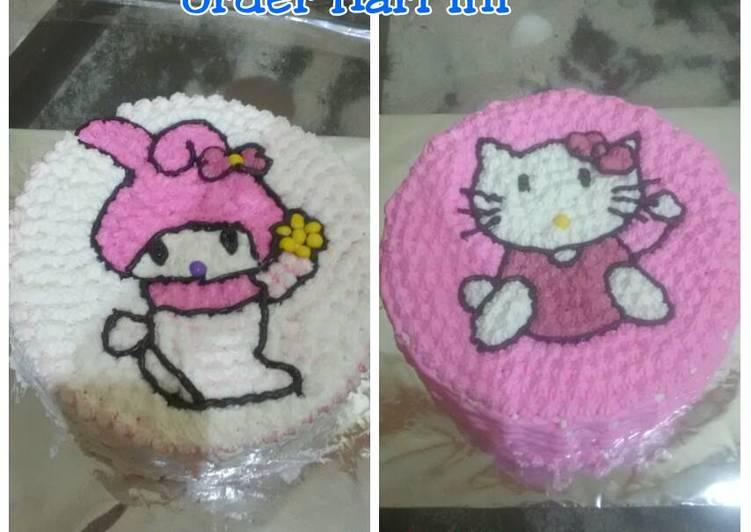 Resep Kue tart simple dan ekonomis(rainbow cake) Bikin Ngiler