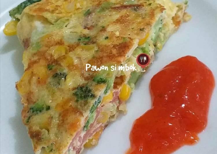 Resep Omelet telur sayur sehat pawon si mbok Paling Top
